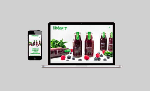 Mckup website Lifeberry®